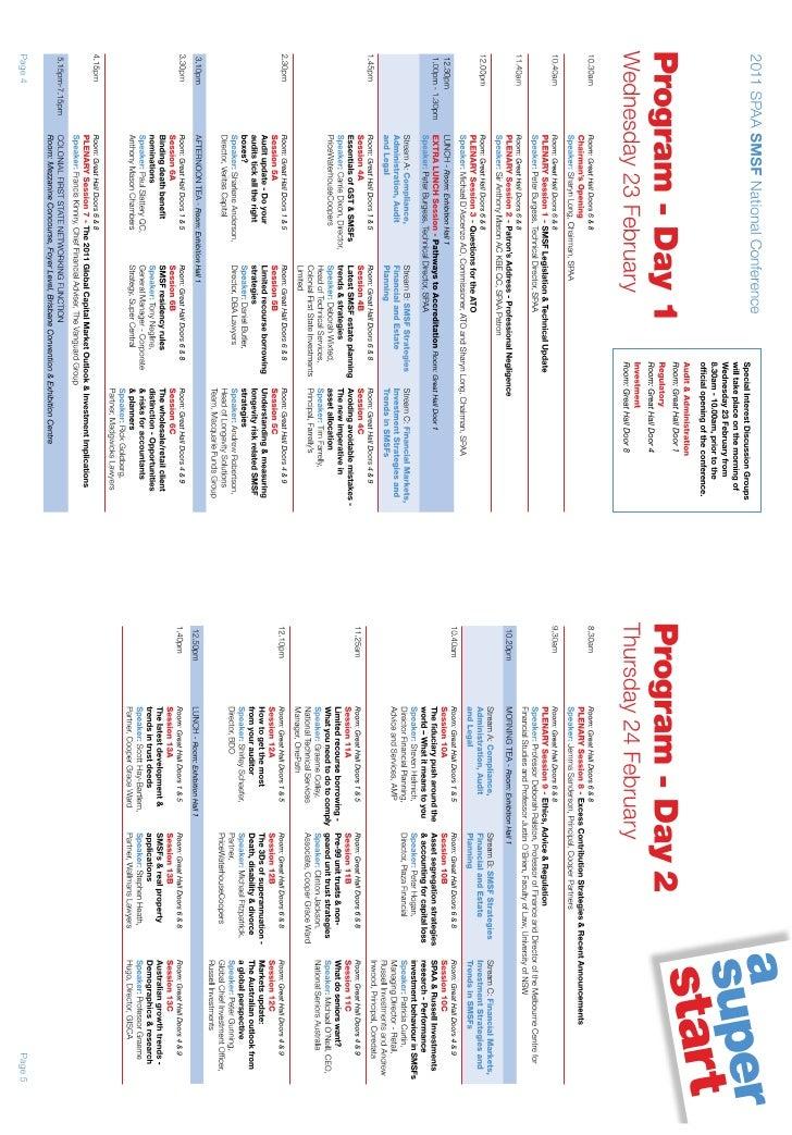 Program SPAA NC2011
