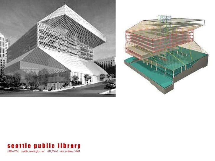 seattle public library1999–2004   seattle, washington usa   412,000 sf, rem koolhaas / OMA