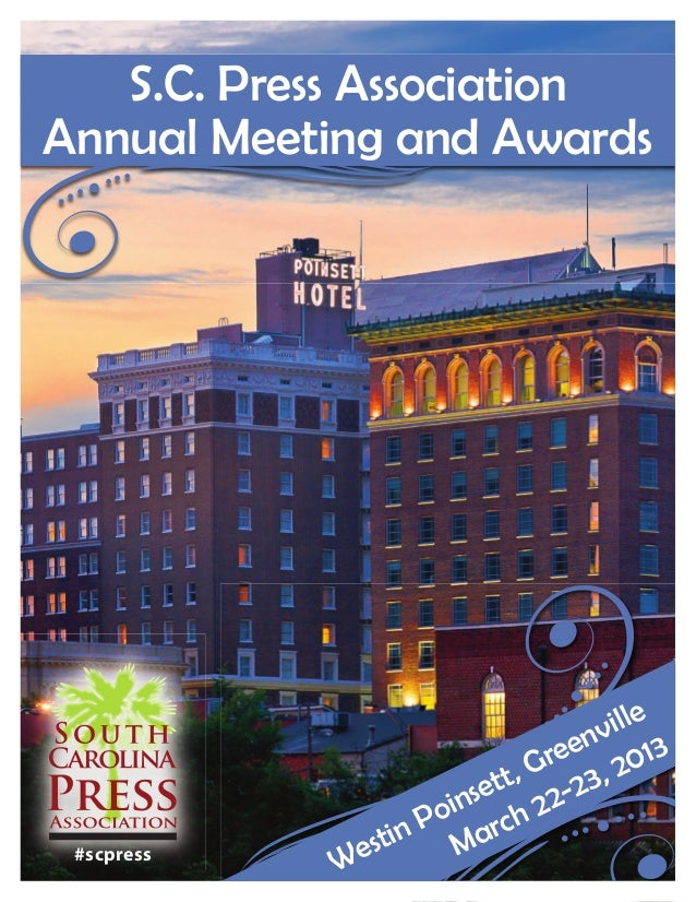 S.C. Press AssociationAnnual Meeting and Awards                                   ille                               env 1...