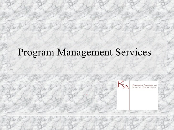 Program Management Services .