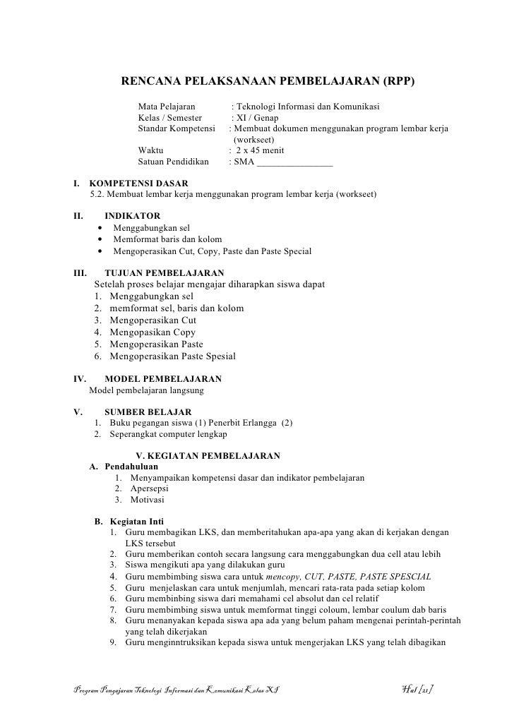 Program Mengajar Tik Ktsp 11 Semester 2