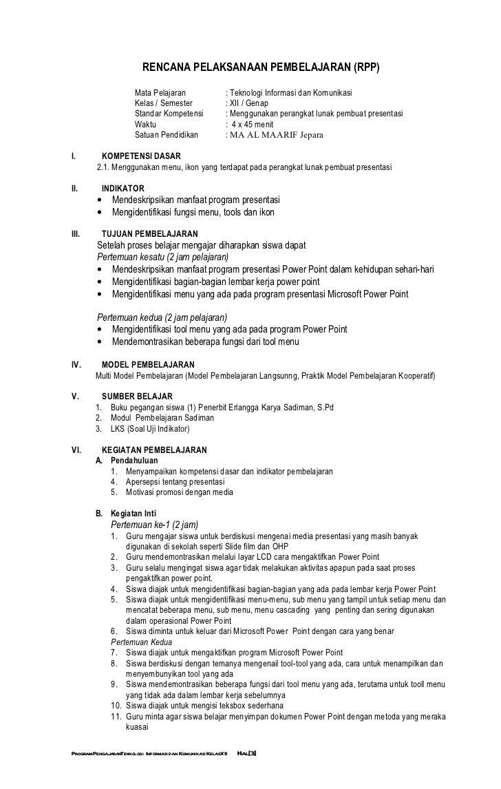 Program Mengajar Tik Ktsp 12 Semester 2