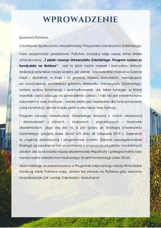 prof. dr hab. Krzysztof Bielawski - Program wyborczy-kandydata-na-rektora-ug-1 Slide 2