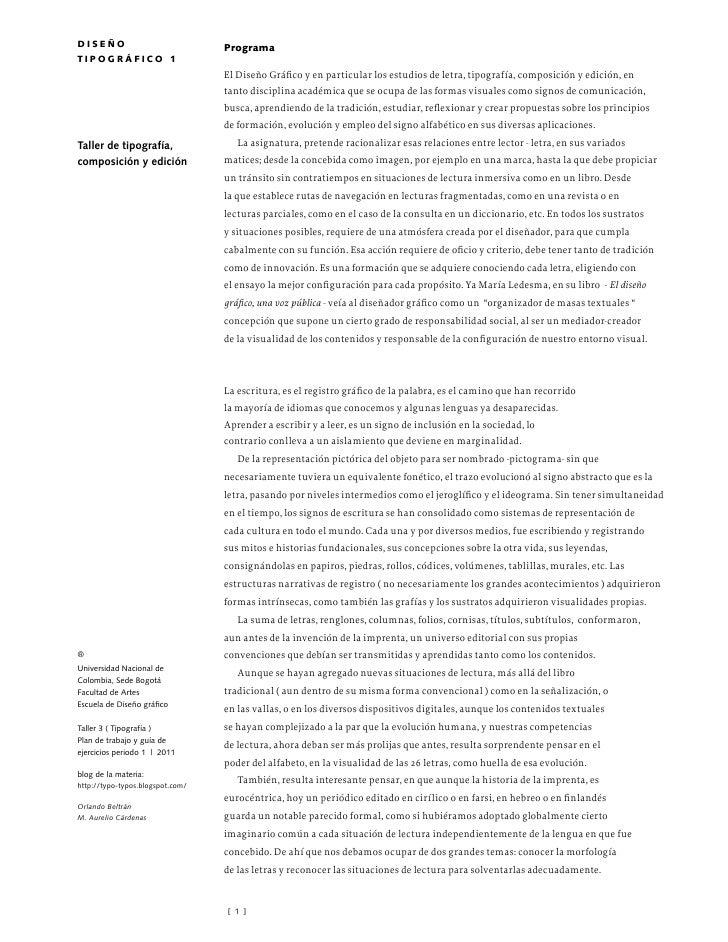 diseño                            ProgramatiPográfico 1                                  El Diseño Gráfico y en particular...