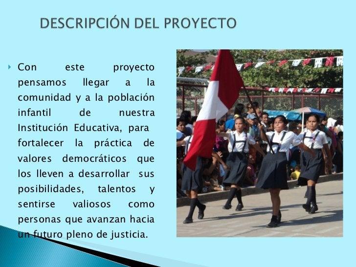 <ul><li>Con este proyecto pensamos llegar a la comunidad y a la población infantil de nuestra Institución Educativa, para ...