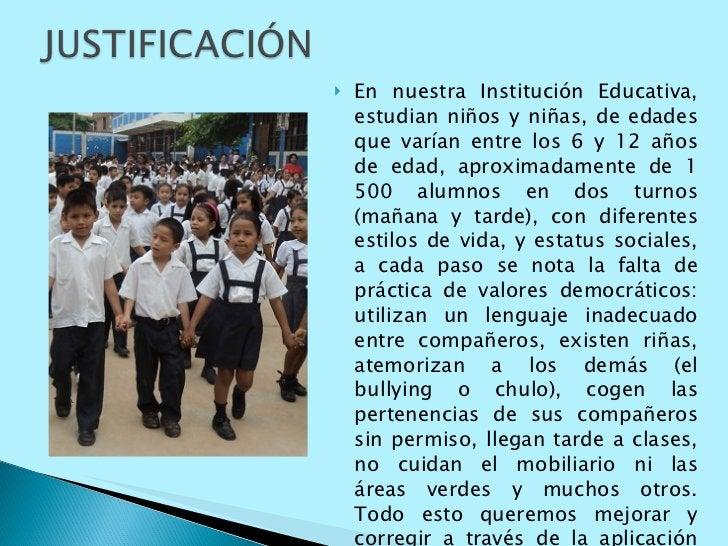 <ul><li>En nuestra Institución Educativa, estudian niños y niñas, de edades que varían entre los 6 y 12 años de edad, apro...