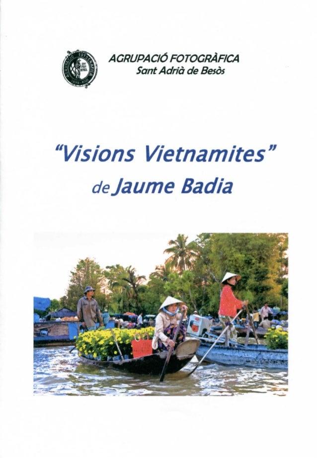 """""""Visions Vietnamites"""" de Jaume Badia"""