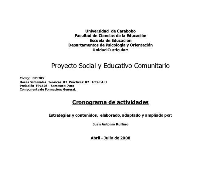Universidad de Carabobo                                 Facultad de Ciencias de la Educación                              ...