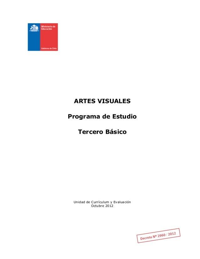 Programa Artes Visuales 3 Basico
