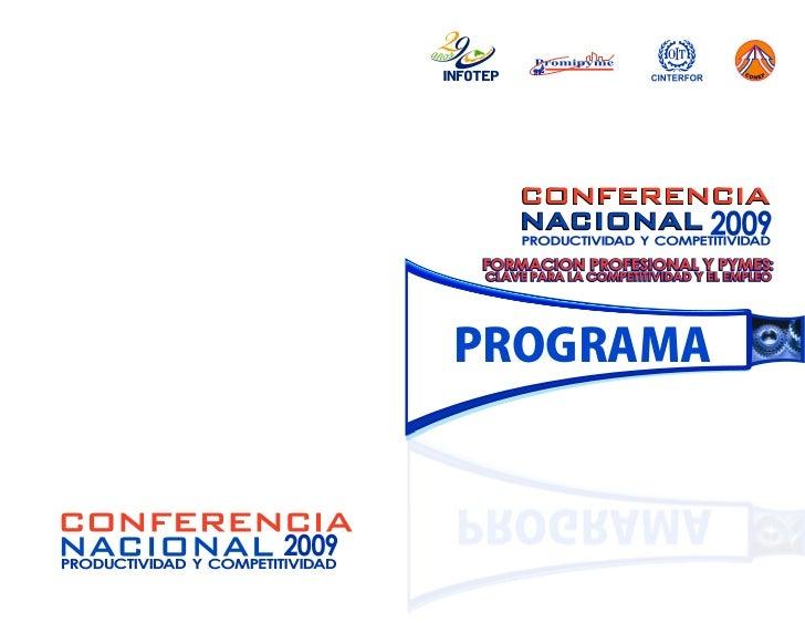 Programa Conferencia Nacional 2009