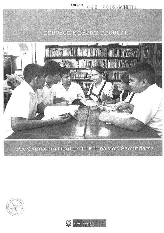 Programa Curricular de Educación Secundaria 2017- 1ra.parte