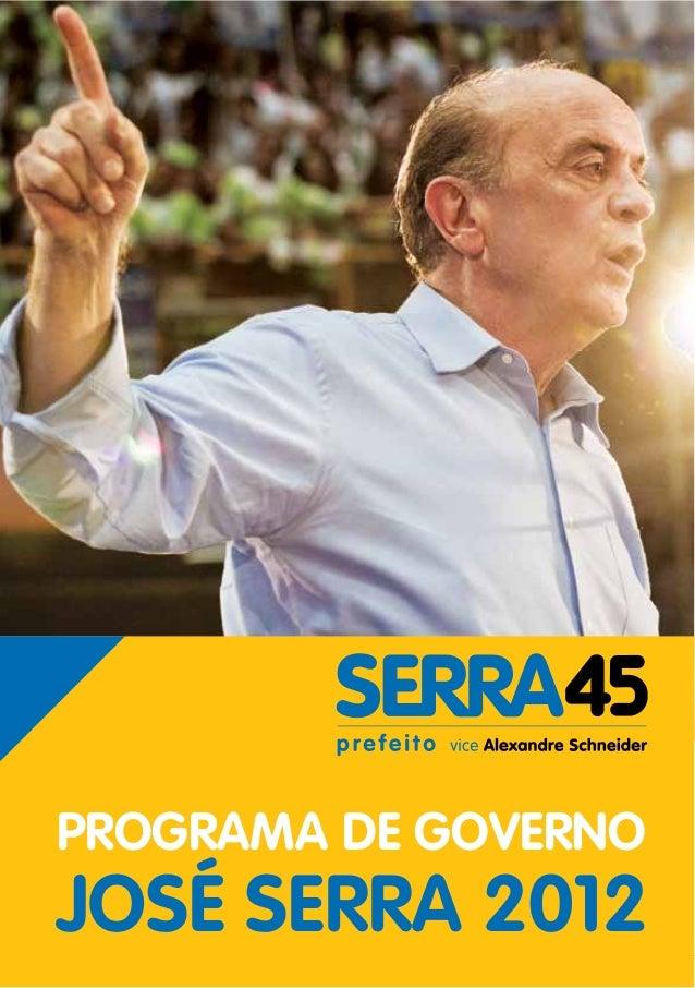 PROGRAMA DE GOVERNOJOSÉ SERRA 2012   1
