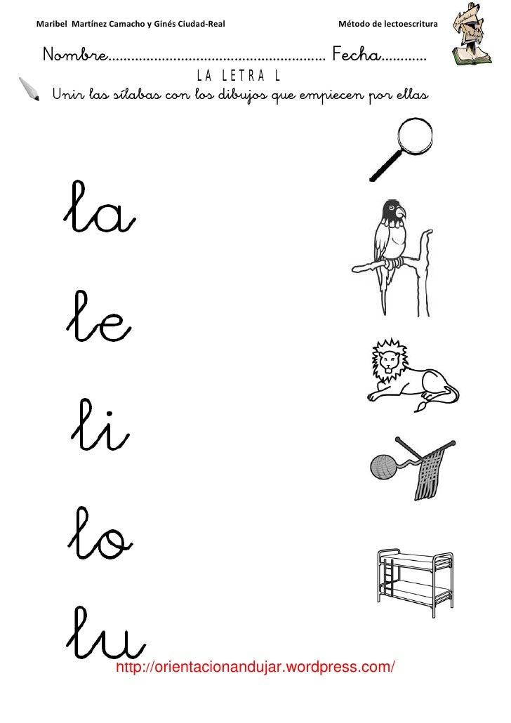 Programa De Lectoescritura Consonante L