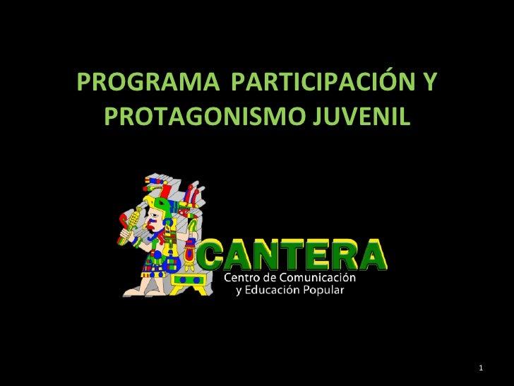 PROGRAMA  PARTICIPACIÓN Y PROTAGONISMO JUVENIL