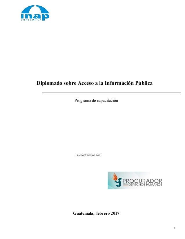 Programa diplomado de acceso a la información 2017