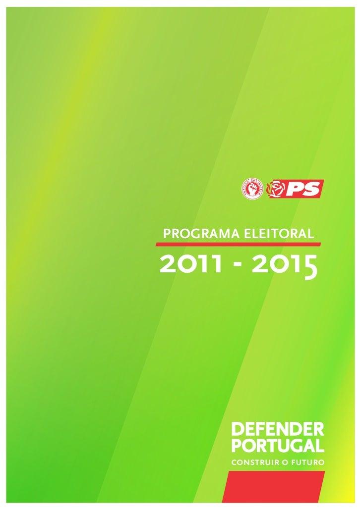 PROGRAMA ELEITORAL2011 - 2015