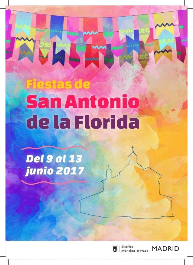 Del 9 al 13 junio 2017 Fiestasde SanAntonio delaFlorida