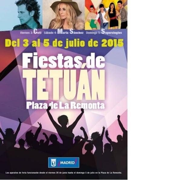 Fiestas Tetu�n. Cartel fiestas