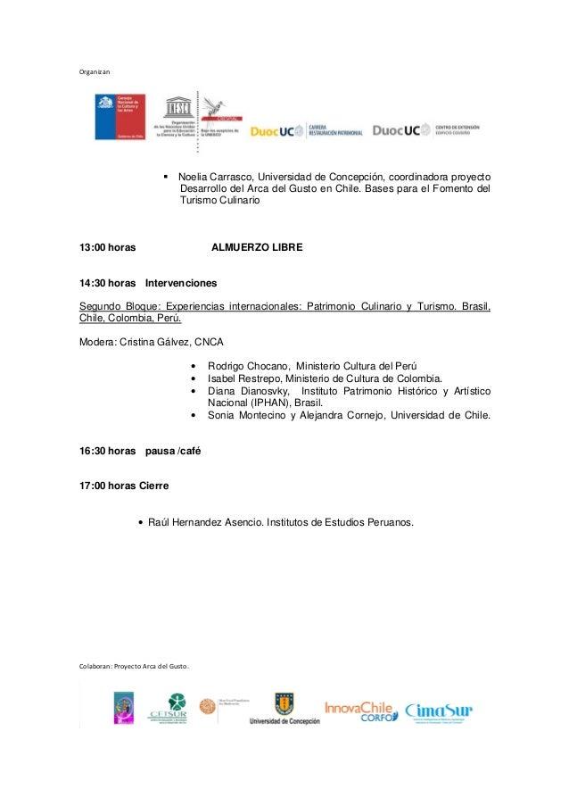 Programa Seminario de Patrimonio Cultural Inmaterial 2013 Slide 2