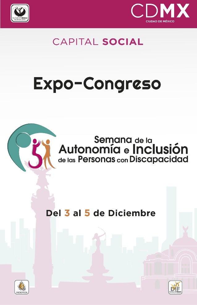 CAPITAL SOCIAL  Expo-Congreso            o o Semana de la _ ,  Autonomla e lncluslon de las Personas con Discapacidad  Del...