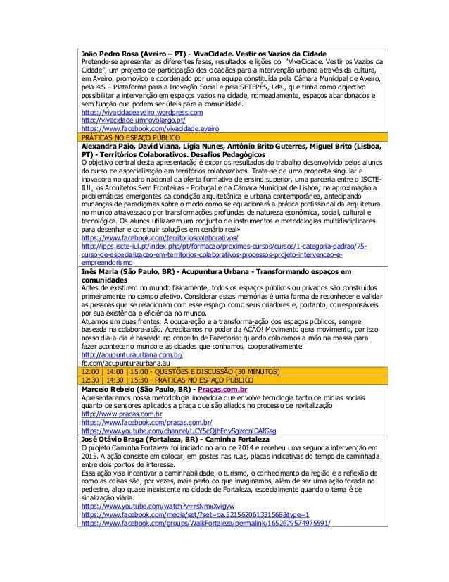 Programa 1.ª conferência online urbanismo tático Slide 3