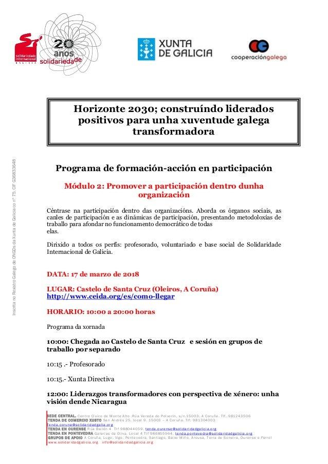 SEDE CENTRAL. Centro Cívico de Monte Alto .Rúa Vereda do Polvorin, s/n.15003. A Coruña. Tlf,.981243506 TENDA DE COMERCIO X...