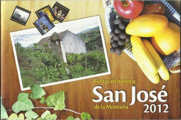 Programa Fiestas de San Jose en Montaña Alta 2012