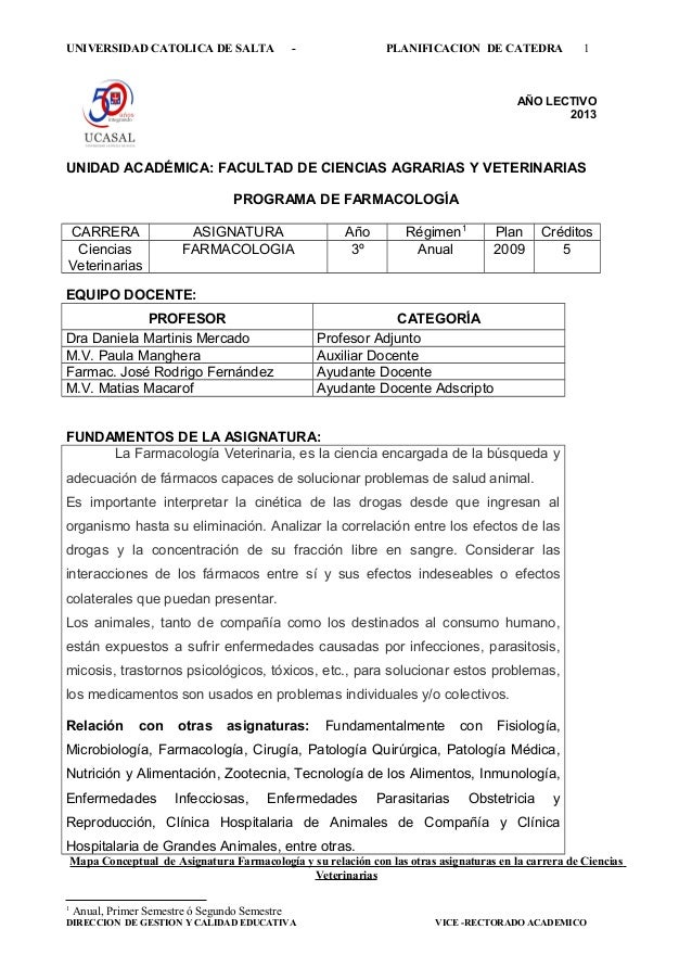 UNIVERSIDAD CATOLICA DE SALTA                   -                PLANIFICACION DE CATEDRA               1                 ...