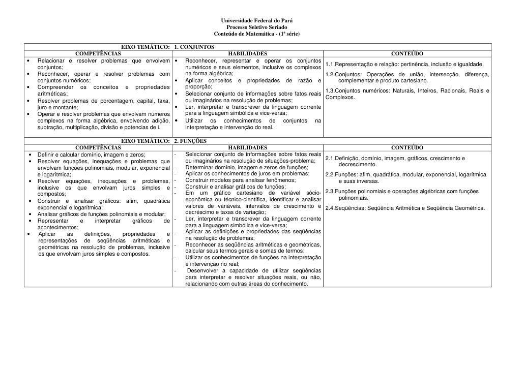 Universidade Federal do Pará                                                                                Processo Selet...