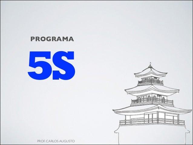 5S PROGRAMA PROF. CARLOS AUGUSTO