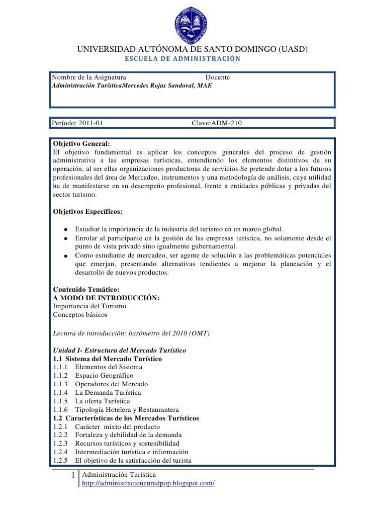 2462088-771276UNIVERSIDAD AUTÓNOMA DE SANTO DOMINGO (UASD)<br />ESCUELA DE ADMINISTRACIÓN<br />Nombre de la Asignatura    ...