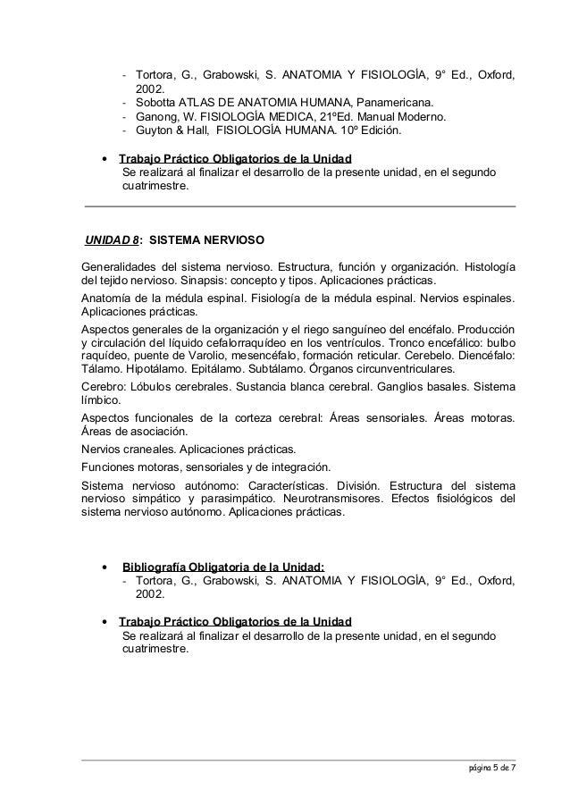 Programa anatomia y fisiologia 2013