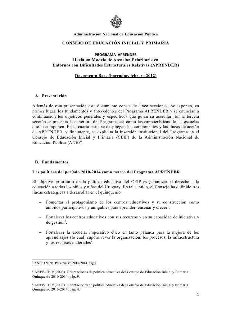 Administración Nacional de Educación Pública                      CONSEJO DE EDUCACIÓN INICIAL Y PRIMARIA                 ...