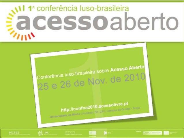 Sessão de Abertura | 10h00-10h30 Reitor da Universidade do Minho, Prof. Doutor António M. Cunha Intervenção do Presidente ...