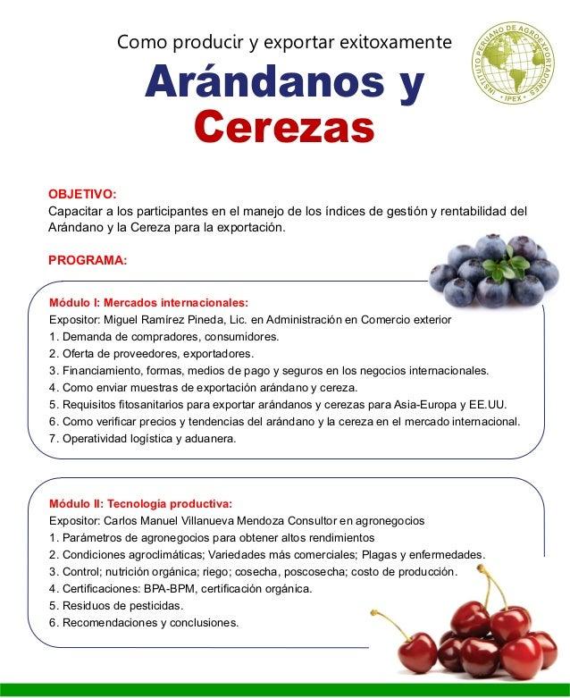 Programa Arandano y Cereza 2014 Slide 2