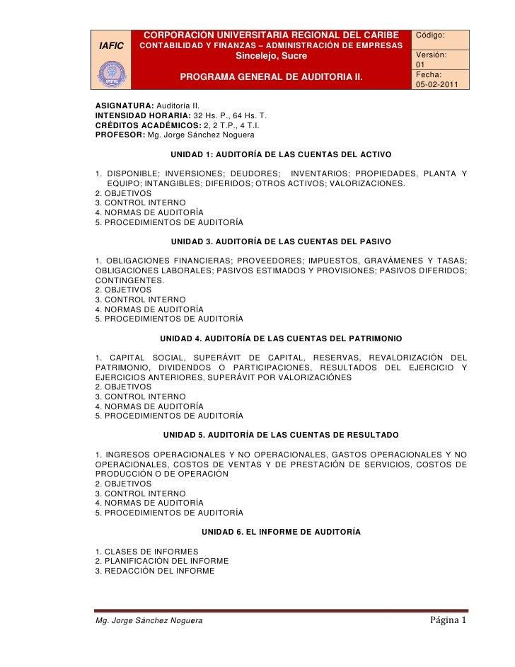CORPORACIÓN UNIVERSITARIA REGIONAL DEL CARIBE           Código:IAFIC     CONTABILIDAD Y FINANZAS – ADMINISTRACIÓN DE EMPRE...