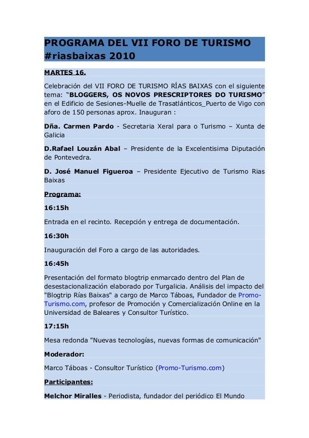 Programa del Blogtrip #riasbaixas Slide 3
