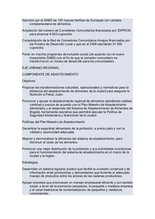 Programa Bogot Sin Hambre