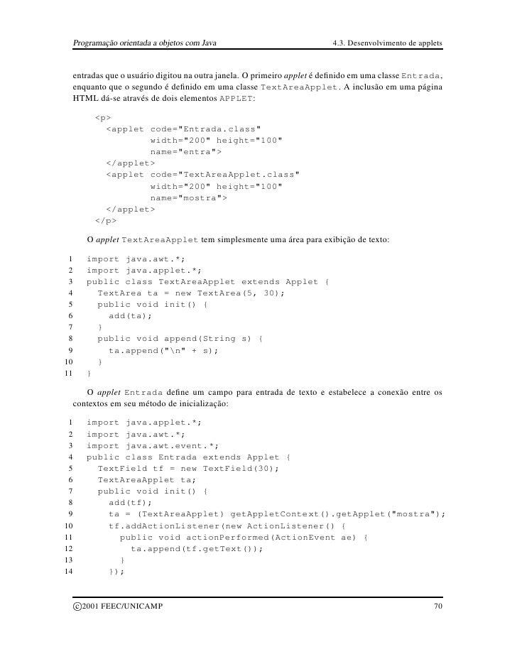 Programacao Orientada A Objetos (Java)