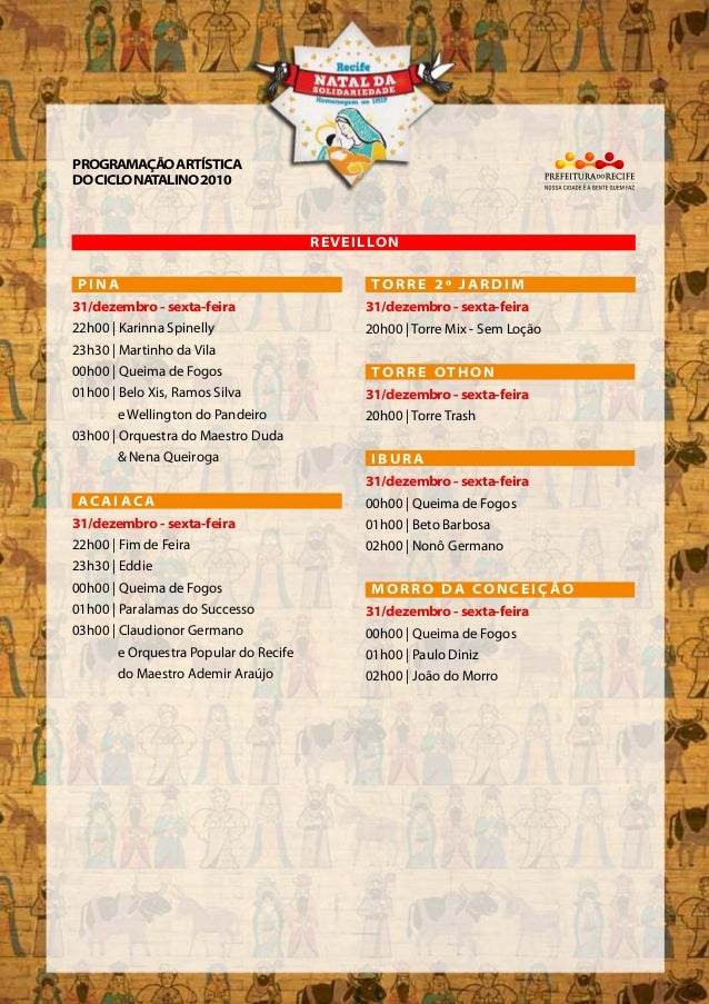 22h00 | Karinna Spinelly 23h30 | Martinho da Vila 00h00 | Queima de Fogos 01h00 | Belo Xis, Ramos Silva e Wellington do Pa...