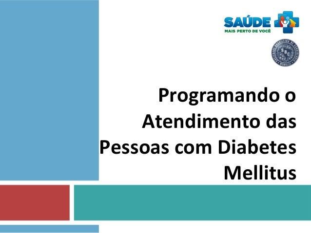 Programando o Atendimento das Pessoas com Diabetes Mellitus
