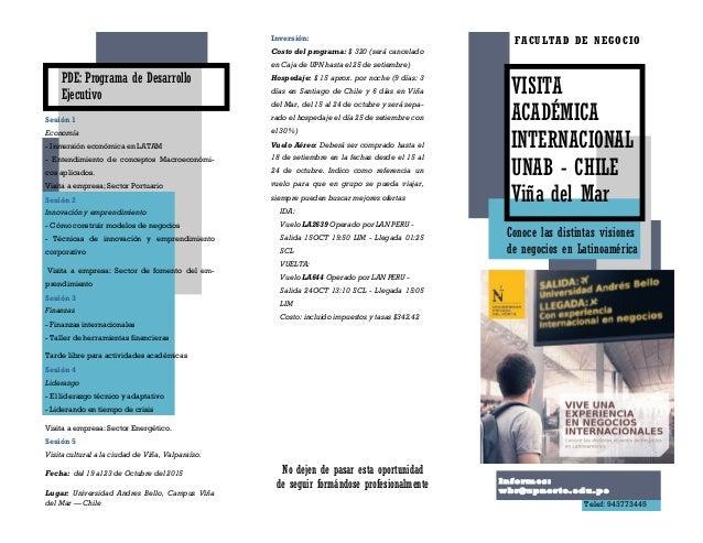 VISITA ACADÉMICA INTERNACIONAL UNAB - CHILE Viña del Mar PDE: Programa de Desarrollo Ejecutivo Sesión 1 Economía - Inmersi...