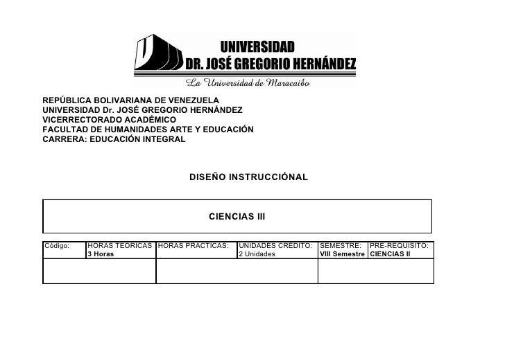 REPÚBLICA BOLIVARIANA DE VENEZUELAUNIVERSIDAD Dr. JOSÉ GREGORIO HERNÁNDEZVICERRECTORADO ACADÉMICOFACULTAD DE HUMANIDADES A...