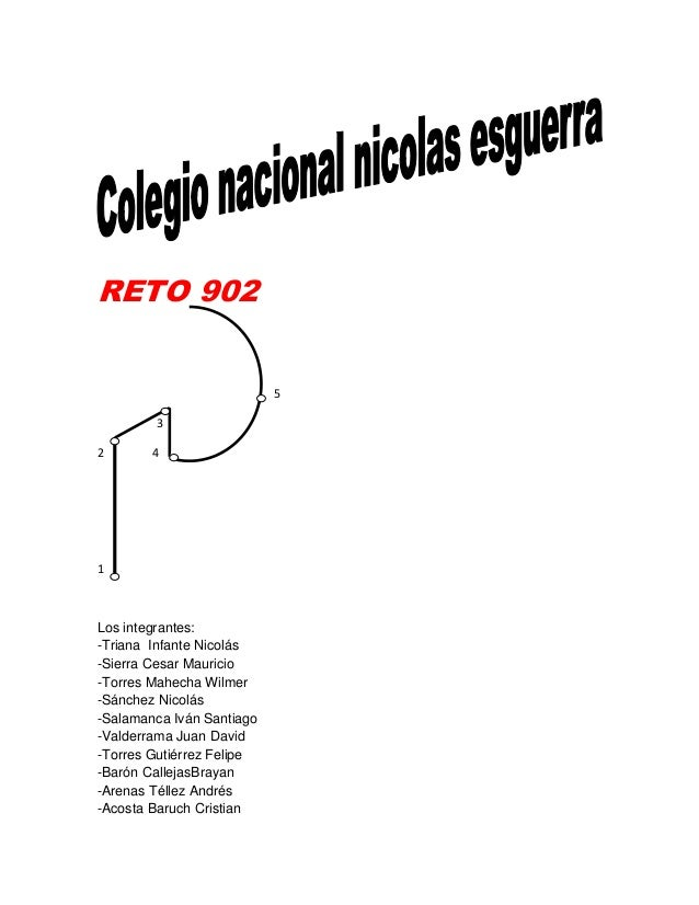 RETO 902532 41Los integrantes:-Triana Infante Nicolás-Sierra Cesar Mauricio-Torres Mahecha Wilmer-Sánchez Nicolás-Salamanc...