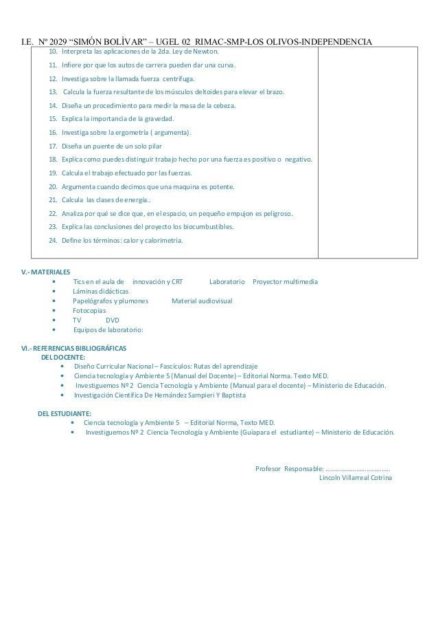 """I.E. Nº 2029 """"SIMÓN BOLÌVAR"""" – UGEL 02 RIMAC-SMP-LOS OLIVOS-INDEPENDENCIA 10. Interpreta las aplicaciones de la 2da. Ley d..."""