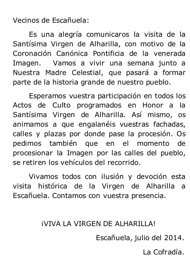 Visita de la Virgen de Alharilla a Escañuela Slide 2