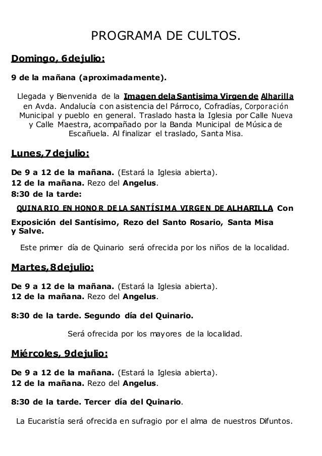 Visita de la Virgen de Alharilla a Escañuela Slide 3