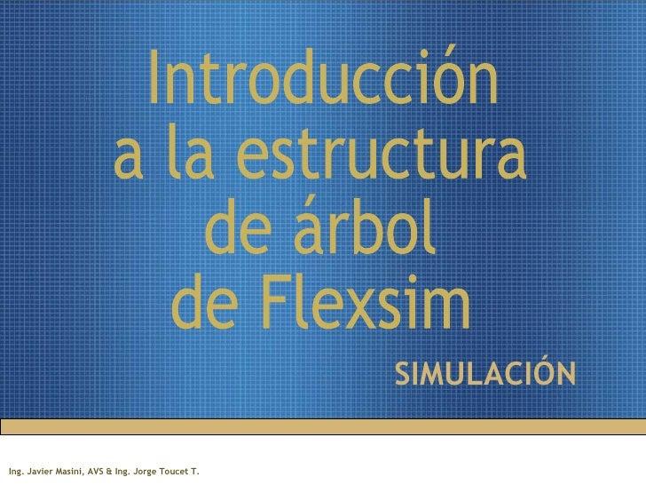 SIMULACIÓN Introducción  a la estructura  de árbol  de Flexsim