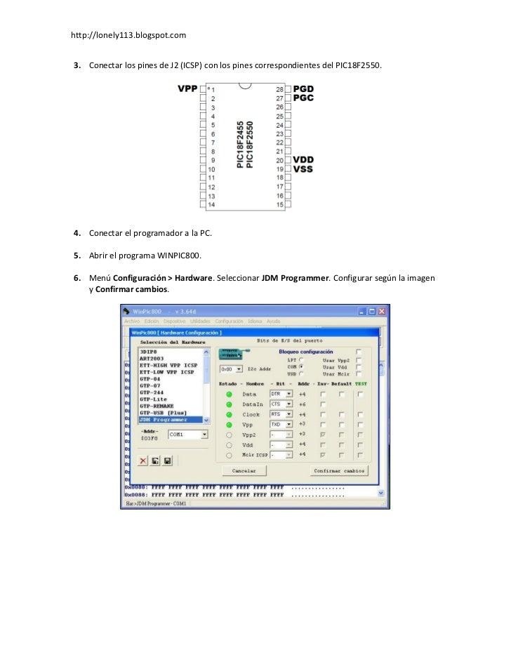 Programación del PIC18F2550 Slide 2