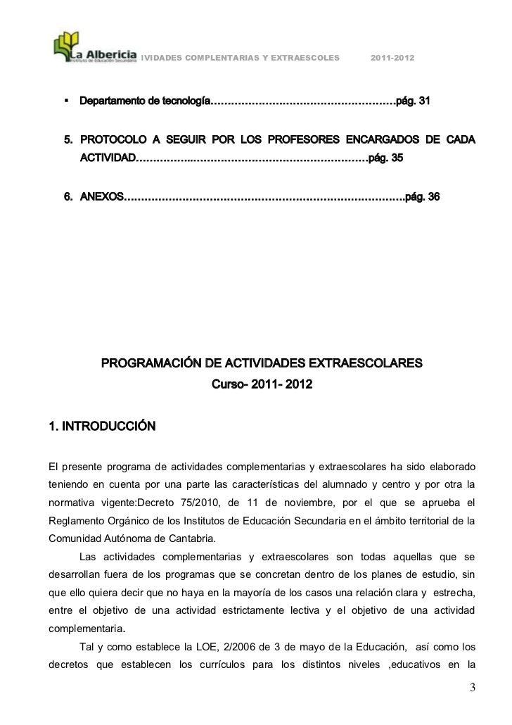ACTIVIDADES COMPLENTARIAS Y EXTRAESCOLES             2011-2012      Departamento de tecnología………………………………………………pág. 31  ...